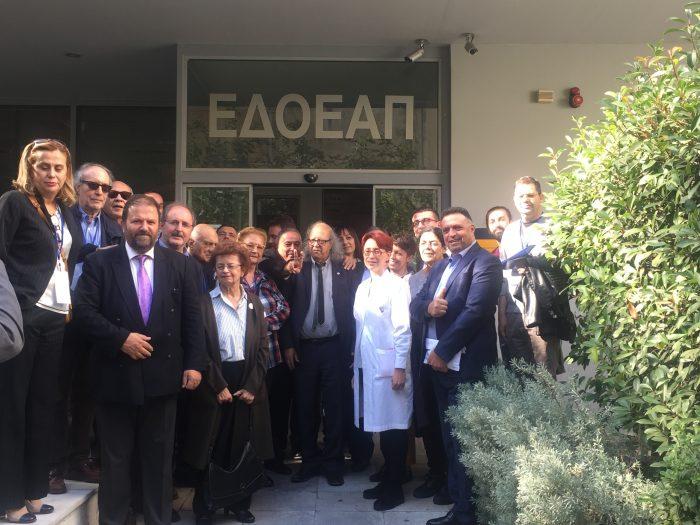 Αντιπροσωπία της Διεθνούς Ομοσπονδίας Δημοσιογράφων στον ΕΔΟΕΑΠ